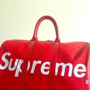 Louis Vuitton X Supreme Duffle Bag